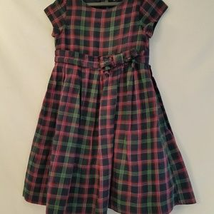 Baby gap girls plaid dress size 4